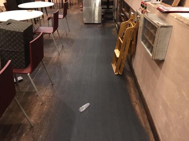 飲食店 イタリアンレストランのフロア洗浄