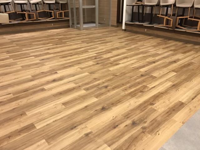 大阪市内で床面ミラクルシールド施工