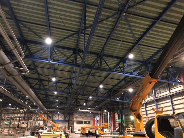 茨城県某所 工場内天井面ネット施工、長野県上田市 工場庇ネット施工