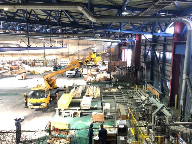 茨城県某所 工場内天井面ネット施工2
