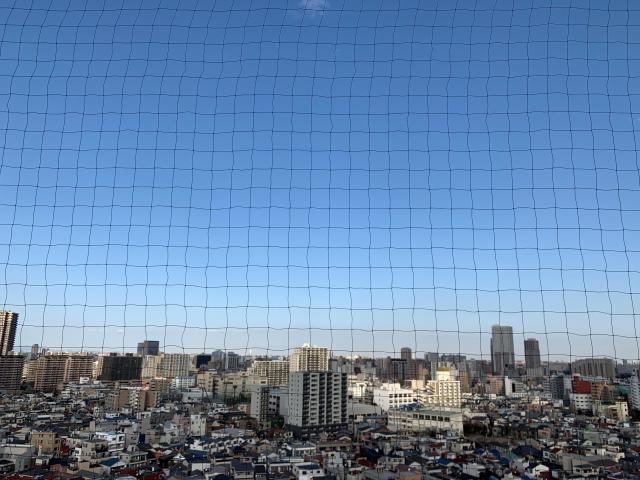 東京都荒川区マンションベランダネット施工後